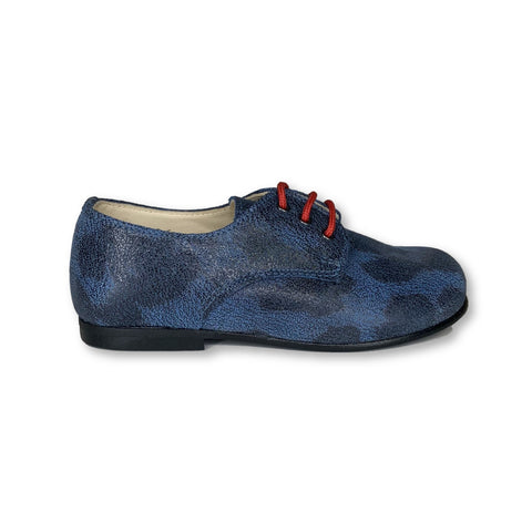 Sonatina Blue Spotted Oxford-Tassel Children Shoes