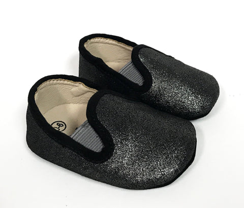 Zeebra Black Metallic (Soft Sole)-Tassel Children Shoes