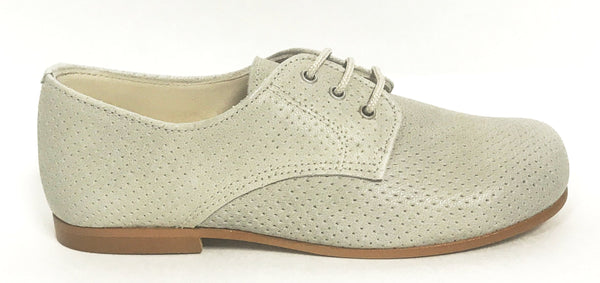 Sonatina Gray Perforated Oxford-Tassel Children Shoes