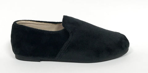 Zeebra Black Velvet Loafer-Tassel Children Shoes