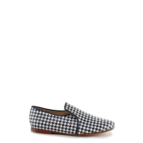 Papanatas Houndstooth Smoking Loafer-Tassel Children Shoes