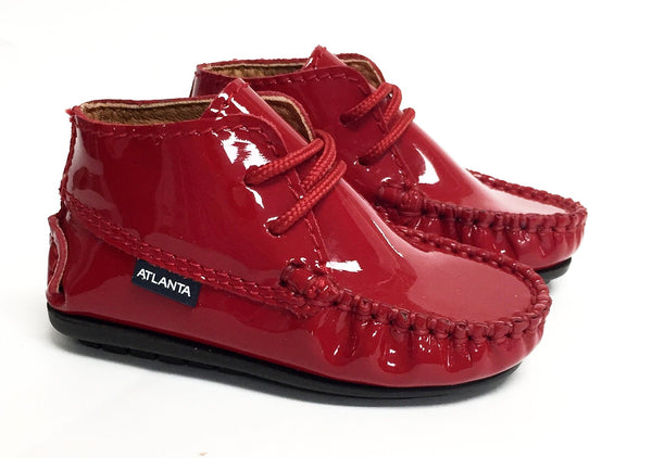 Atlanta Mocassin Red Patent Bootie-Tassel Children Shoes