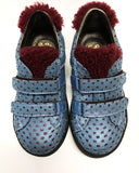 Pepe Blue/Burgundy Velcro Sneaker-Tassel Children Shoes