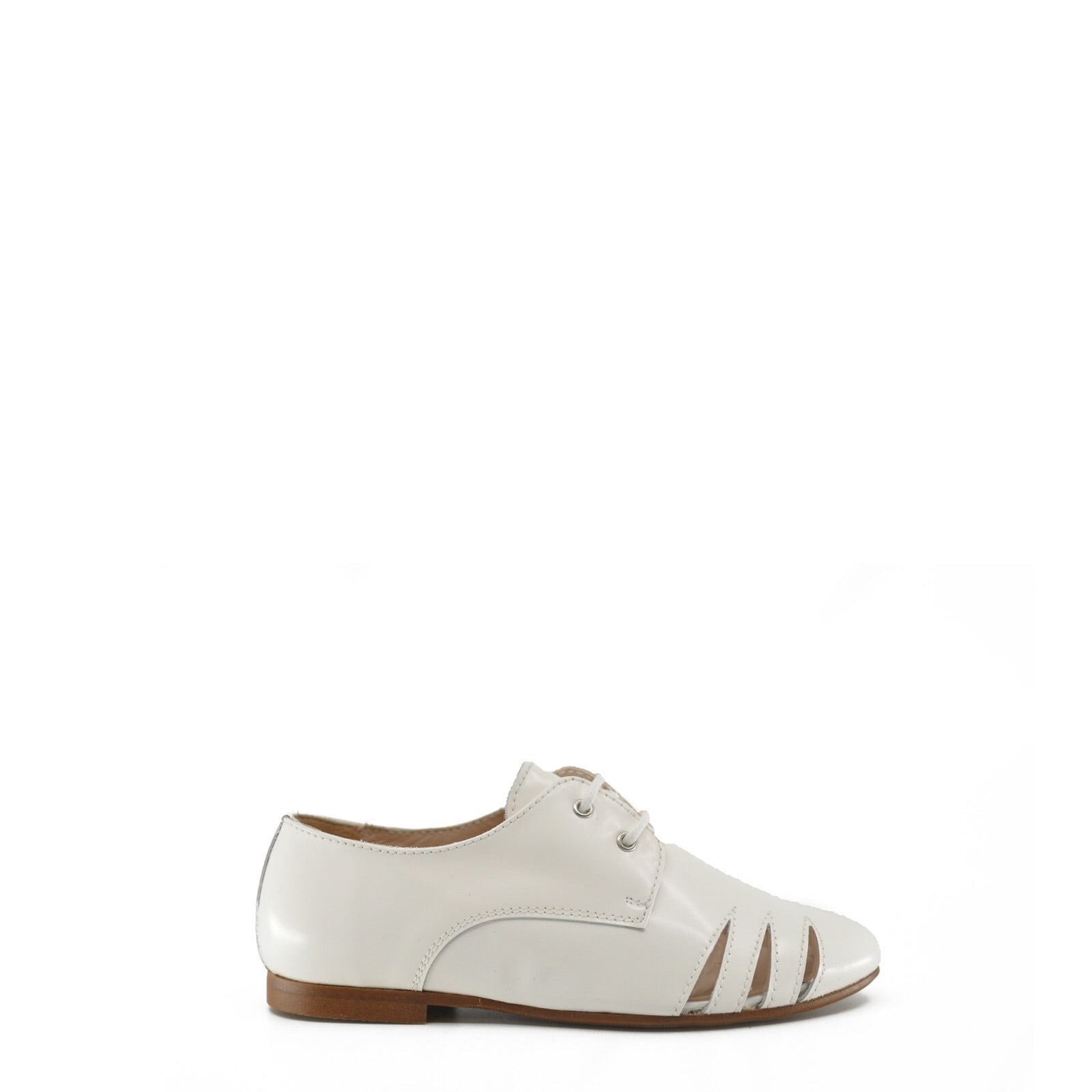 Beberlis White Florentic Oxford with Side Slits-Tassel Children Shoes