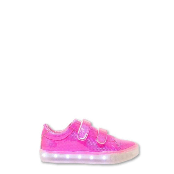 POP Velcro Pink Light-Up Sneaker-Tassel Children Shoes