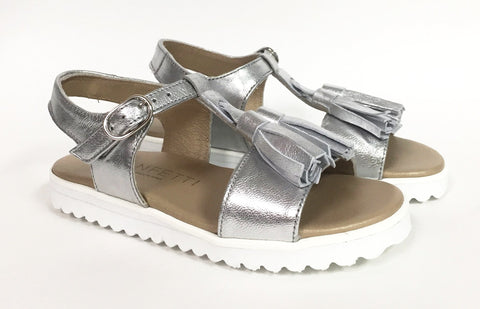 Confetti Silver Tassel Sandal-Tassel Children Shoes