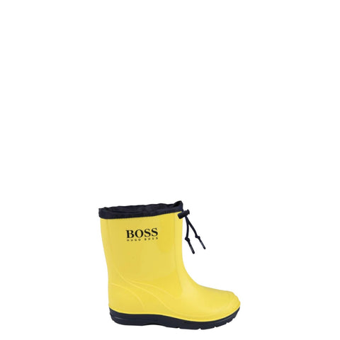 Hugo Boss Yellow Draw String Rain Boot-Tassel Children Shoes