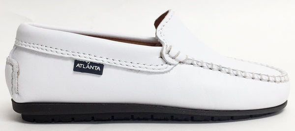 Atlanta Mocassin White Loafer-Tassel Children Shoes