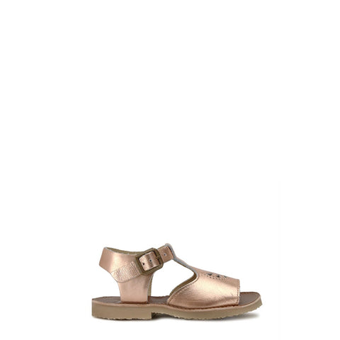 Young Soles Rose Gold T-Strap Sandal-Tassel Children Shoes