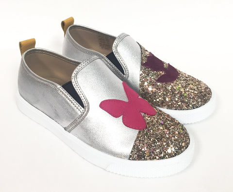 Elephantito Silver and Glitter Slip-on Shoe-Tassel Children Shoes