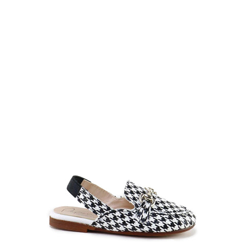 Papanatas Houndstooth Elastic Mule-Tassel Children Shoes