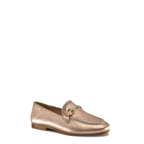 Beberlis Rose Gold Buckle Loafer-Tassel Children Shoes