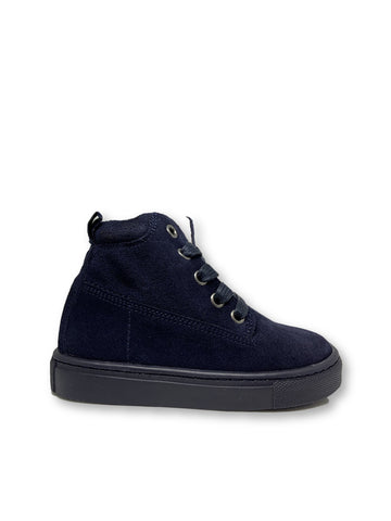 Atlanta Mocassin Navy Suede High Top Sneaker-Tassel Children Shoes