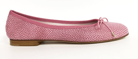 Paul Mayer Attitudes Pink Pebbled Bingo Ballet-Tassel Children Shoes
