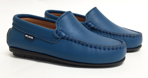 Atlanta Mocassin Rich Blue Loafer-Tassel Children Shoes