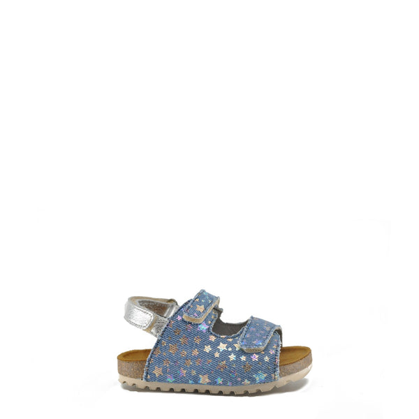 Blublonc Denim Star Velcro Sandal-Tassel Children Shoes