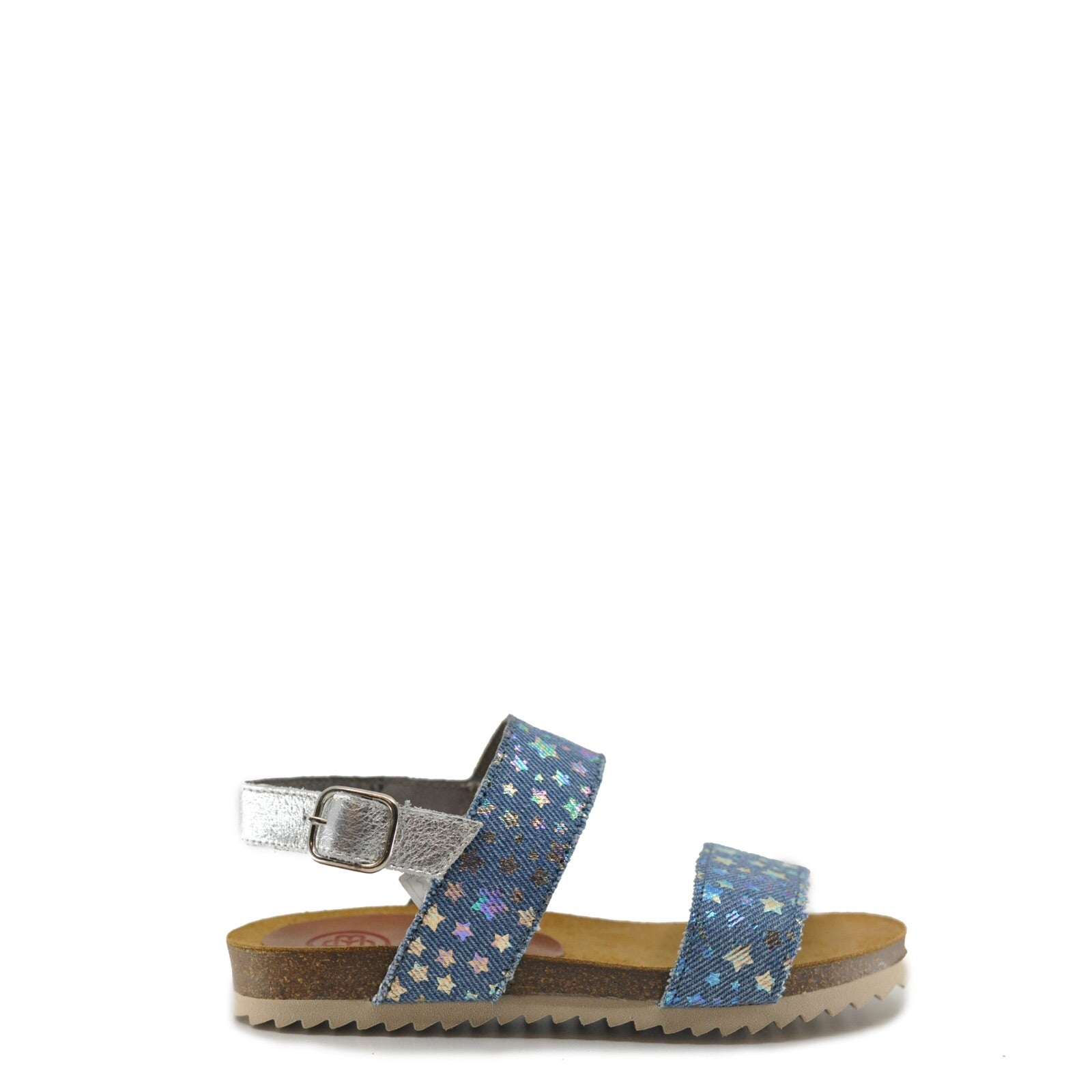 Blublonc Denim Star Buckle Sandal-Tassel Children Shoes