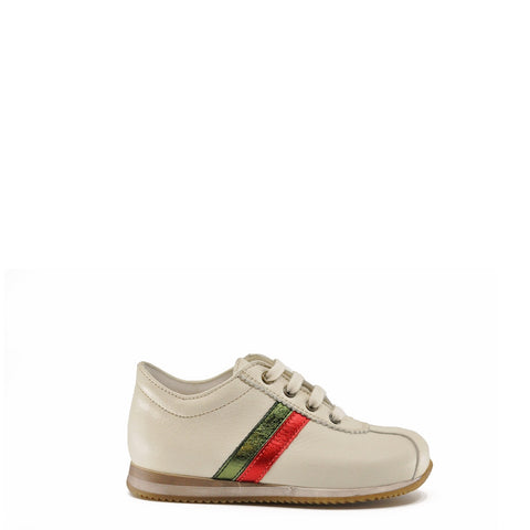 Pepe Beige Stripe Lace Sneaker-Tassel Children Shoes