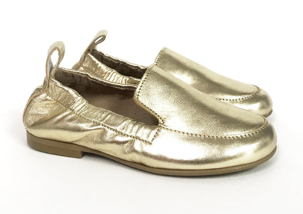 Hoo Gold Elastic Loafer-Tassel Children Shoes