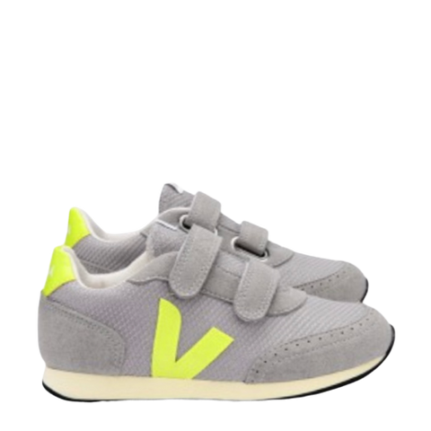 Veja Gray Mesh Running Sneaker-Tassel Children Shoes