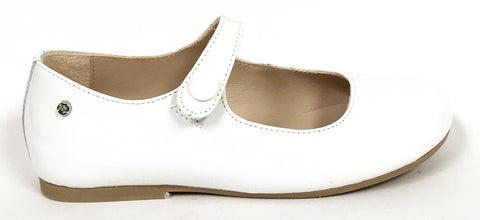 Manuela White Patent Mary Jane-Tassel Children Shoes