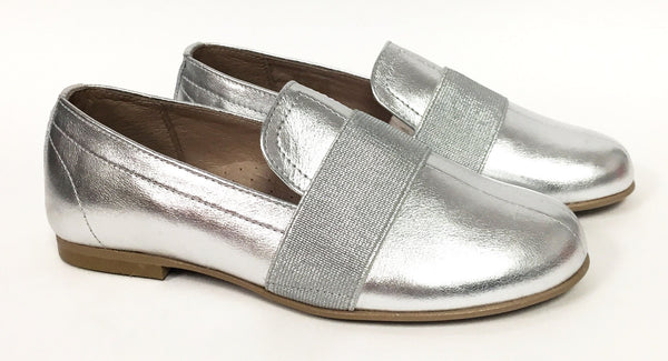 Hoo Silver Slip-On Loafer-Tassel Children Shoes