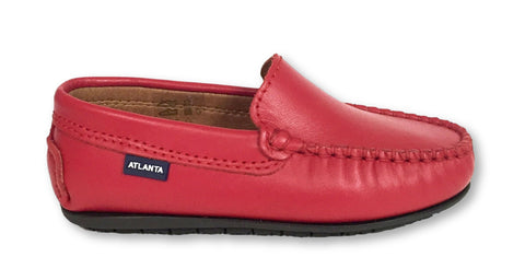 Atlanta Mocassin Bright Red Loafer-Tassel Children Shoes