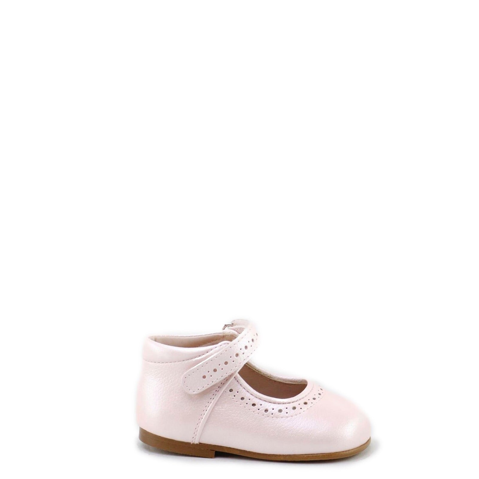 Papanatas Pale Pink Pebbled Baby Shoe-Tassel Children Shoes