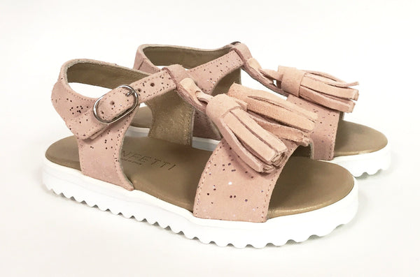 Confetti Pink Tassel Sandal-Tassel Children Shoes
