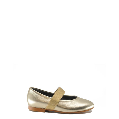 Blublonc Gold Metallic Elastic Mary Jane-Tassel Children Shoes