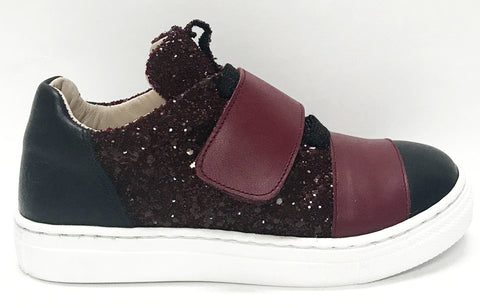 Sonatina Cranberry Velcro Sneaker-Tassel Children Shoes