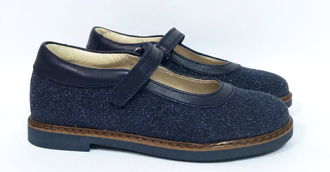 Zapeti Navy Glitter Mary Jane-Tassel Children Shoes