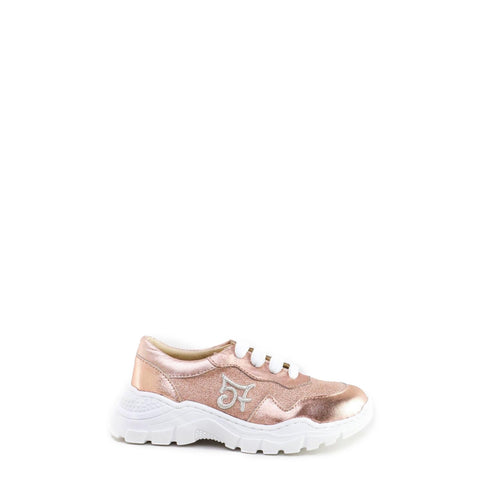 Papanatas Rose Gold Sparkle Grandpa Sneaker-Tassel Children Shoes