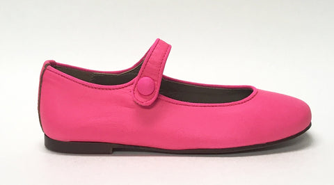 Papanatas Hot Pink Mary Jane-Tassel Children Shoes