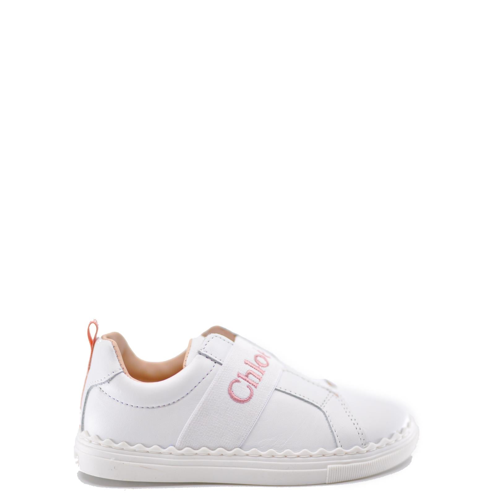 Chloe Elastic Logo Sneaker-Tassel Children Shoes