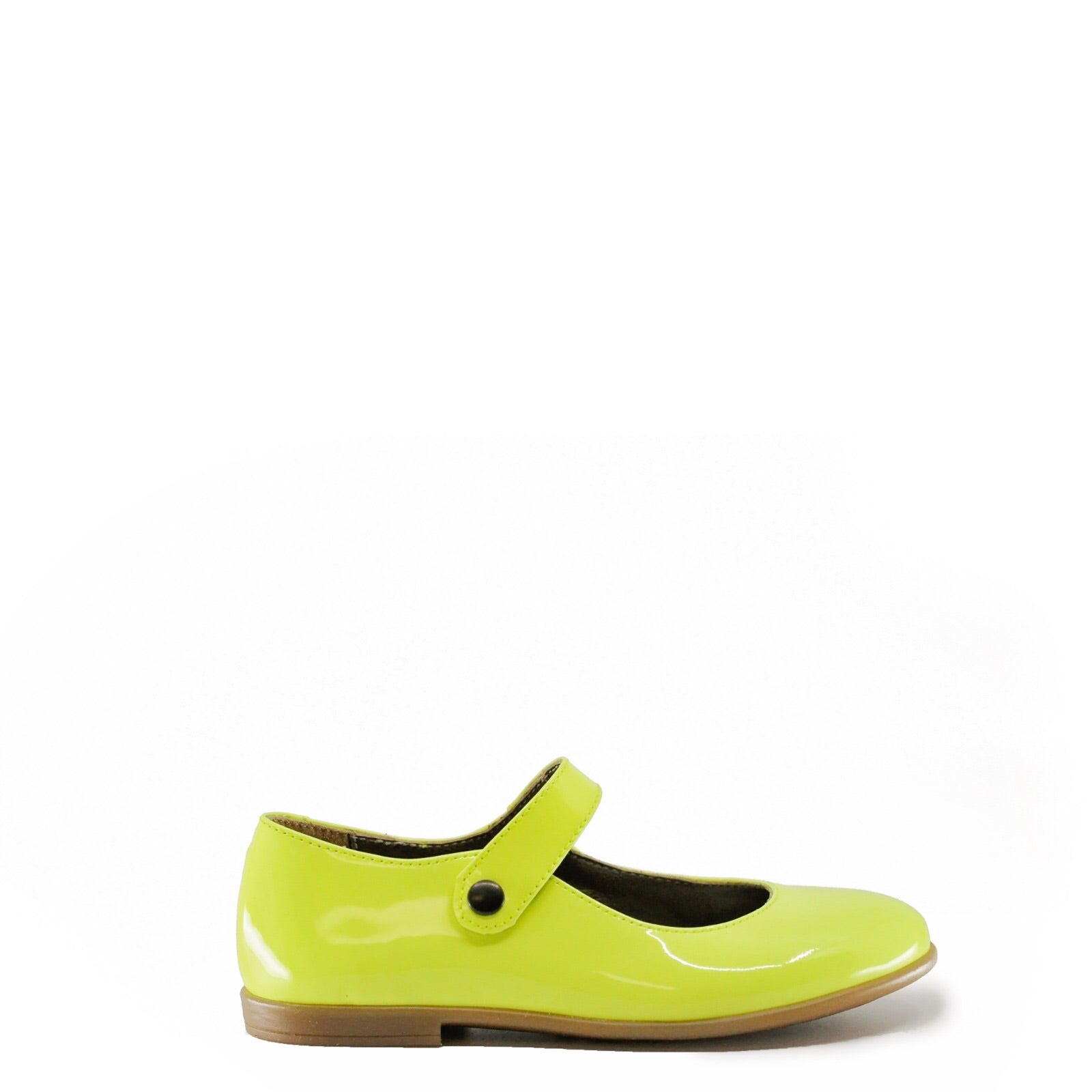 Pepe Neon Yellow Patent Mary Jane-Tassel Children Shoes