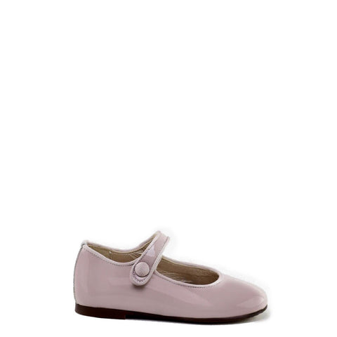 Papanatas Mauve Patent Mary Jane-Tassel Children Shoes