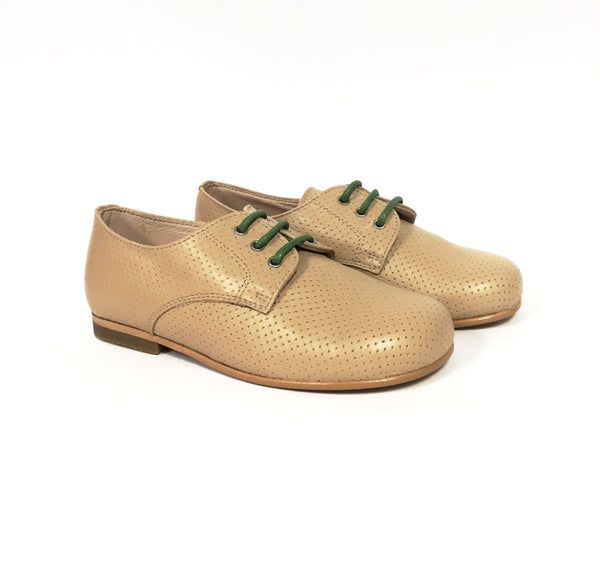 Sonatina Taupe Perforated Oxford-Tassel Children Shoes
