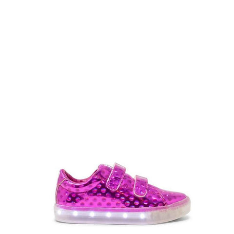 POP Velcro Pink Dot Light-Up Sneaker-Tassel Children Shoes