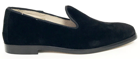 Hoo Black Velvet Smoking Loafer-Tassel Children Shoes