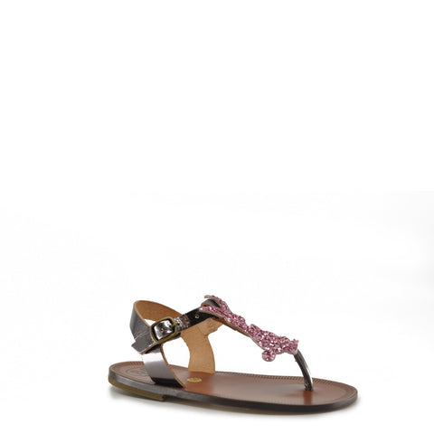 Pepe Pink Glitter Bunny Sandal-Tassel Children Shoes