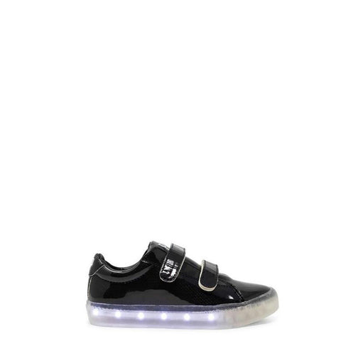 POP Velcro Black Light-Up Sneaker-Tassel Children Shoes