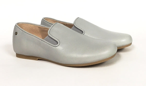 Manuela Light Gray Slip-on-Tassel Children Shoes