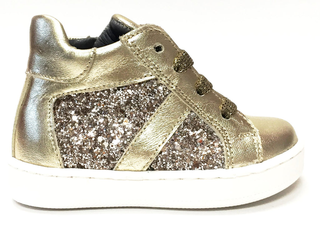 shoes for cheap latest design competitive price Blublonc Gold Glitter High-top – Tassel Children Shoes