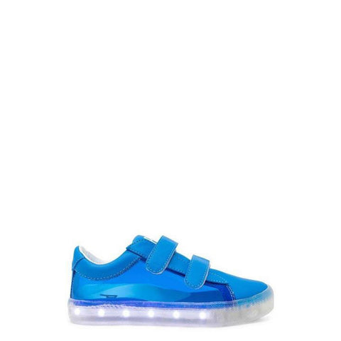 POP Velcro Clear Blue Light-Up Sneaker-Tassel Children Shoes