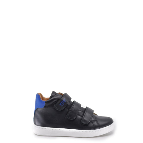 Hugo Boss Black Triple Velcro Hightop Sneaker-Tassel Children Shoes
