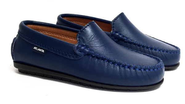 Atlanta Mocassin Ocean Blue Loafer-Tassel Children Shoes