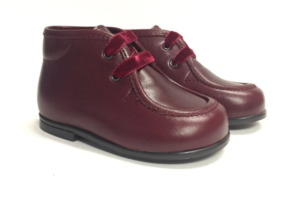 Beberlis Burgundy Leather Bootie-Tassel Children Shoes
