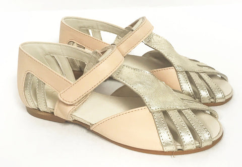 Sonatina Peach/Gold Sandal-Tassel Children Shoes