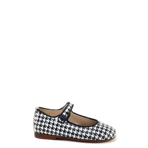 Papanatas Houndstooth Mary Jane-Tassel Children Shoes